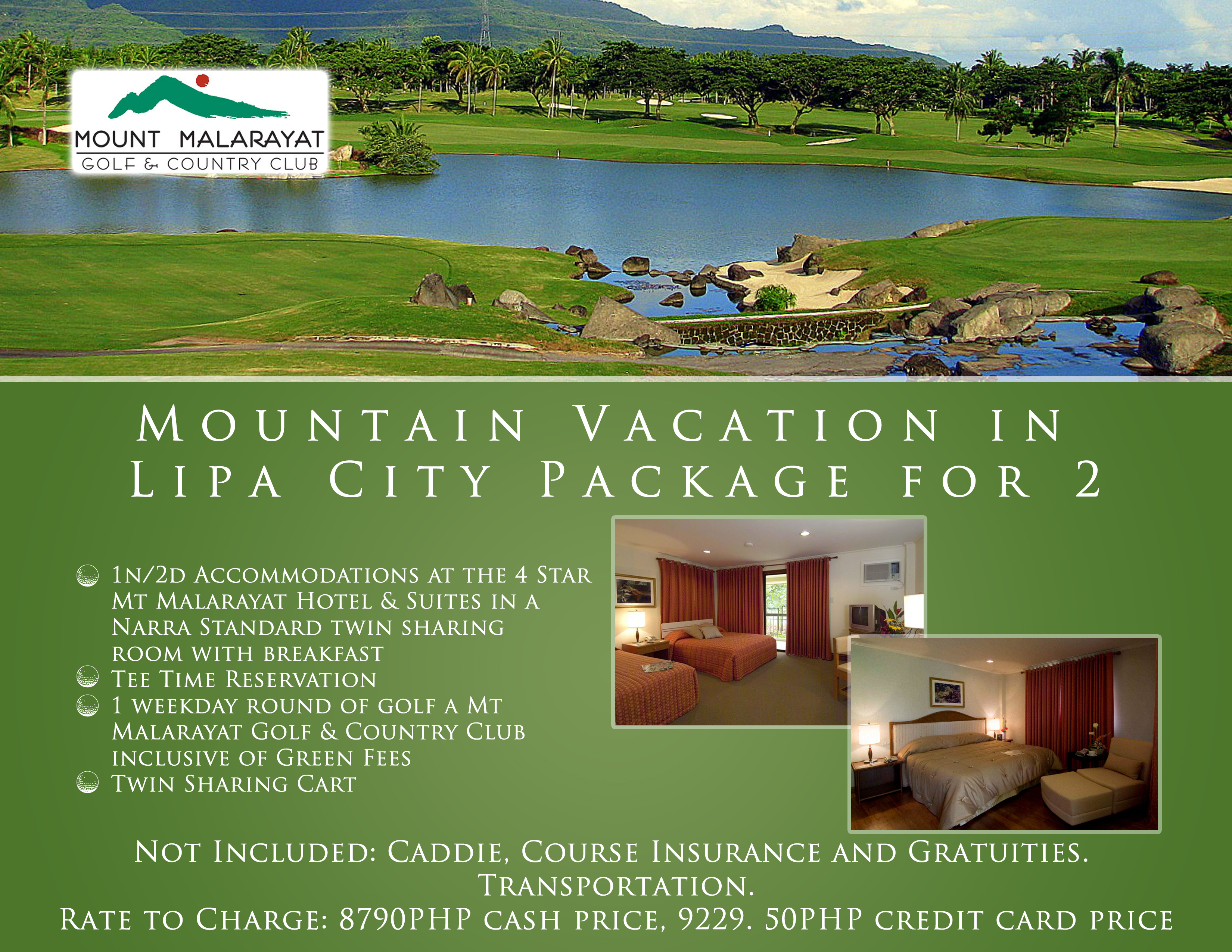 Offer #11 - Mountain Vacation in Lipa City Package for 2