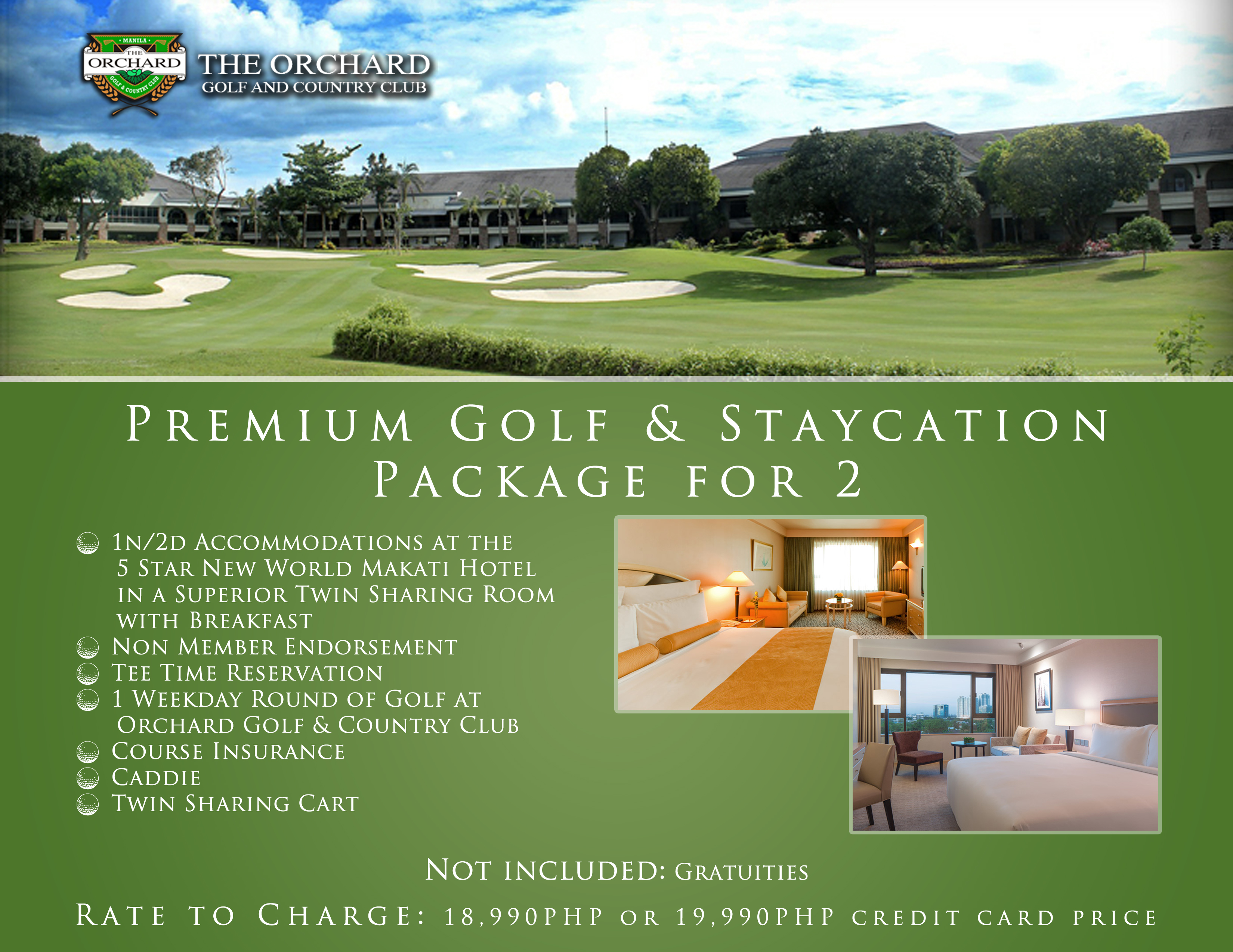 Offer #9 - Premium Golf & Staycation Package for 2