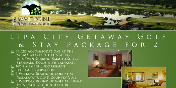 Offer #4 Lipa City Getaway Golf & Stay Package for 2