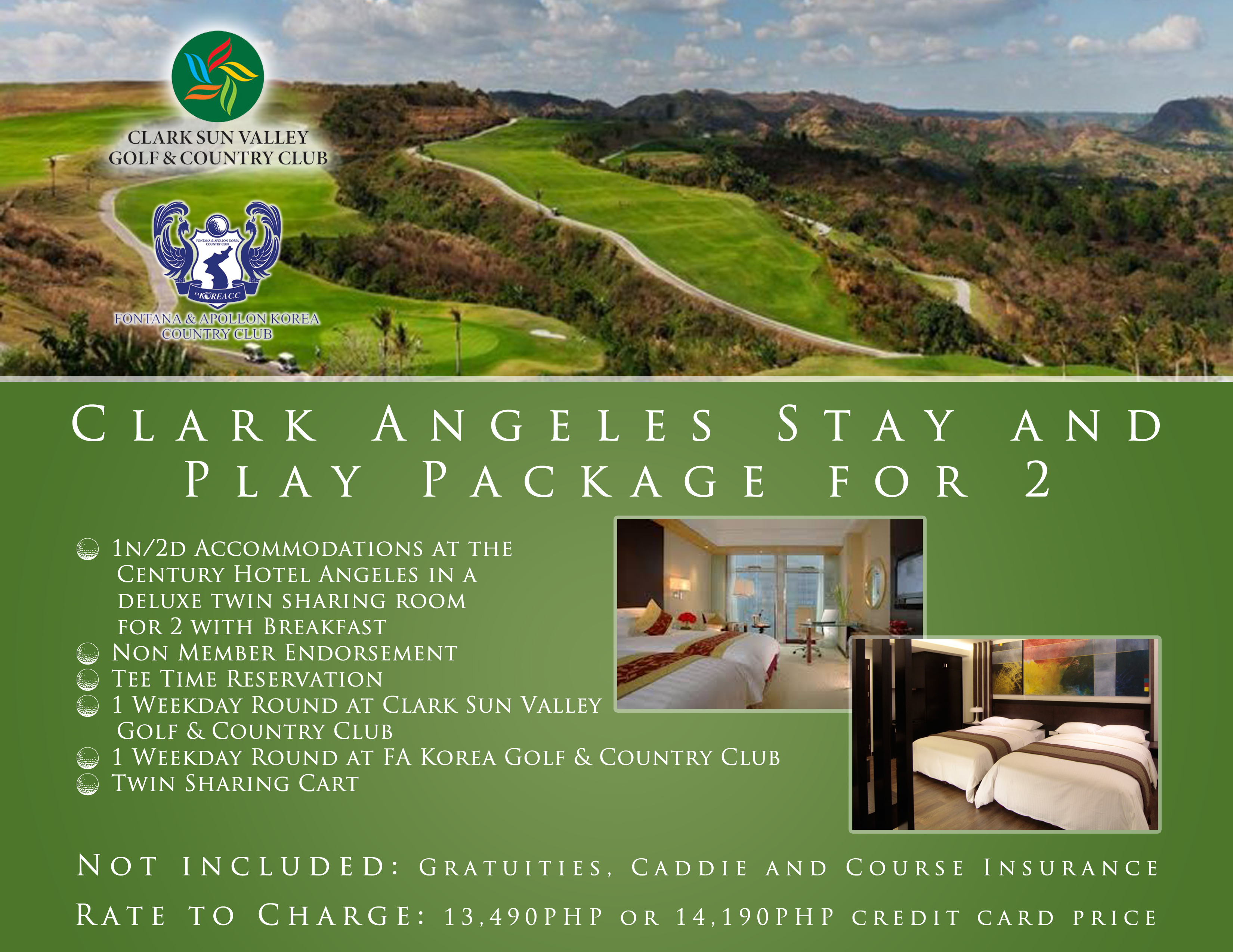 Offer #5 - Clark Angeles Stay and Play Package for 2